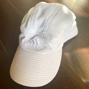 White Adidas Mesh Hat
